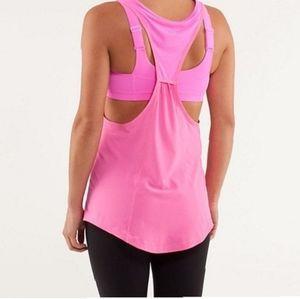 Lululemon Stash It Tank front pocket hot pink